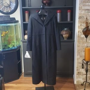 New Marvin Richards long black winter coat